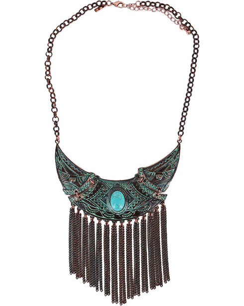 Shyanne® Women's Turquoise Dangle Necklace, Turquoise, hi-res