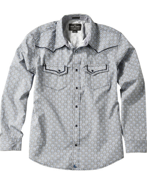 Cody James® Men's Las Cruces Long Sleeve Shirt, Grey, hi-res