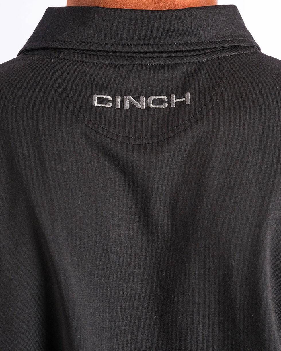 Cinch Men's ArenaFlex Black Athletic Polo, Black, hi-res