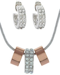 Montana Silversmiths Rose Gold and Double Shine Jewelry Set, , hi-res