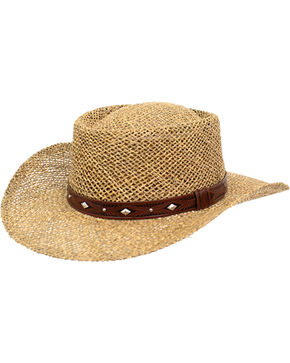 Peter Grimm Men's Natural Garon Straw Hat , Natural, hi-res