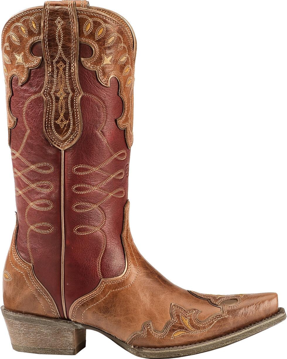 Ariat Women's Zealous Snip Toe Western Boots, Brown, hi-res