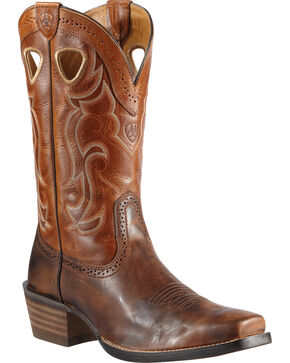 Ariat Men's Rawhide Western Boots, Chestnut, hi-res
