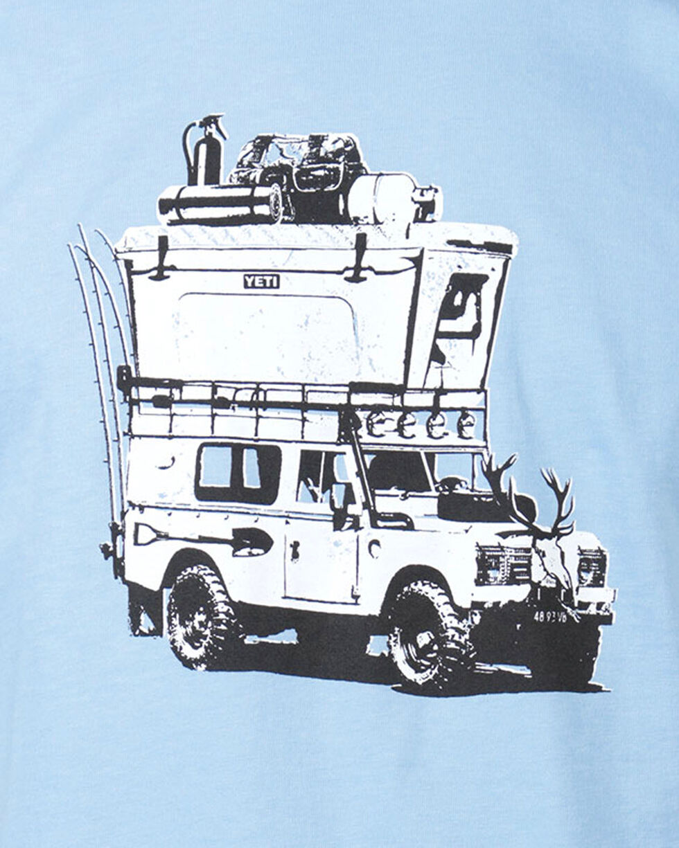 Yeti Men's Adventure Vehicle Graphic Tee, Light/pastel Blue, hi-res