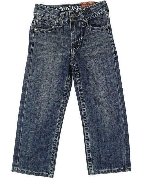 Cody James® Boys' Dusty Trail Boot Cut Jeans, Blue, hi-res