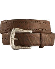 Ariat Elephant Print Leather Belt, , hi-res