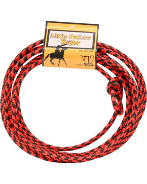 M&F Western Little Outlaw Roper Lasso, Black/red, hi-res