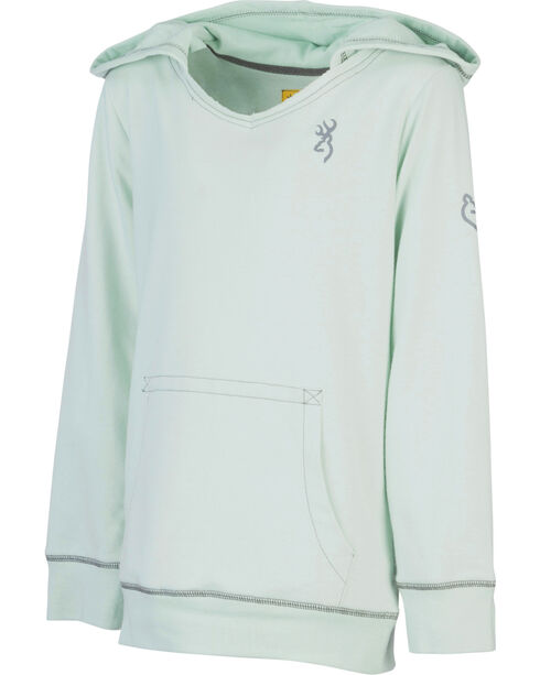 Browning Girls' Green Windflower Sweatshirt , Green, hi-res