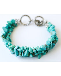 West & Co. Women's 3 Strand Turquoise Stone Bracelet, , hi-res