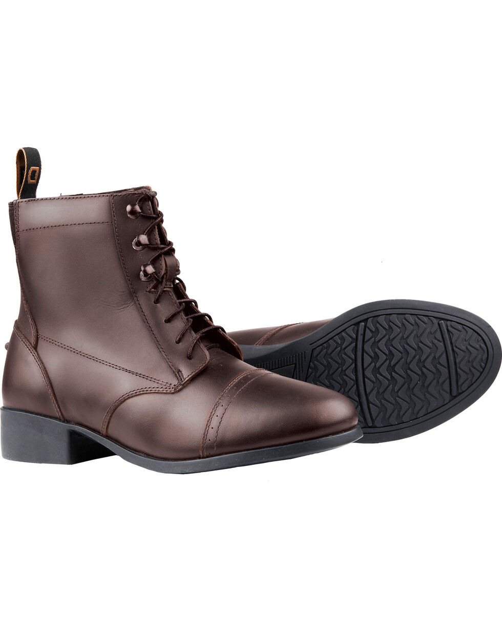 Dublin Women's Foundation Laced Paddock Boots, Brown, hi-res