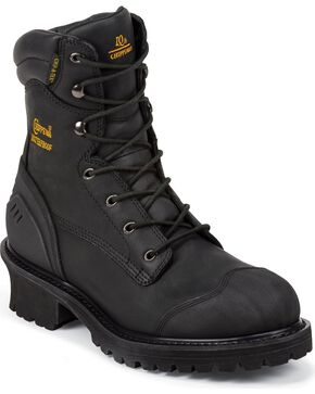 Chippewa Men's Toe Composite Logger Work Boots, Black, hi-res