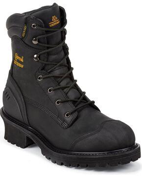 Chippewa Men's Toe Composite Logger Work Boots, Black, hi-res