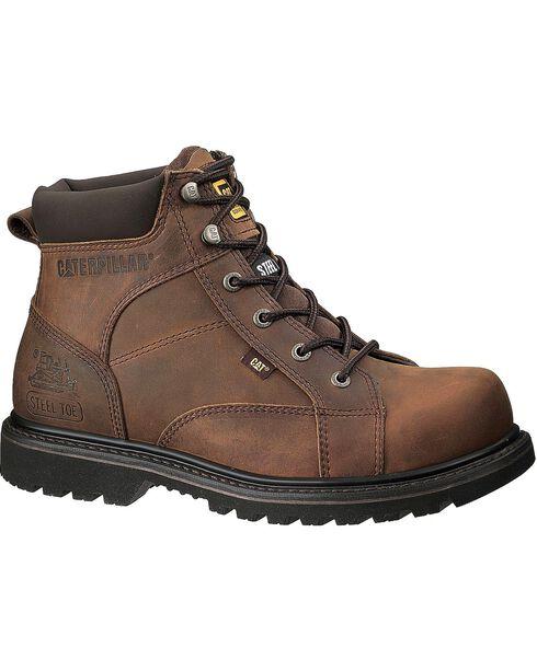 CAT Men's Whiston Work Boots, Dark Brown, hi-res