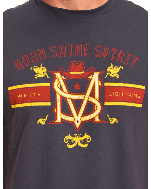 Moonshine Spirit® Men's White Lightning Short Sleeve T-Shirt, Navy, hi-res