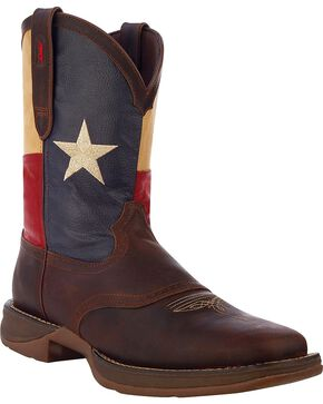 Durango Men's Patriotic Single Star Square Toe Western Boots, Brown, hi-res