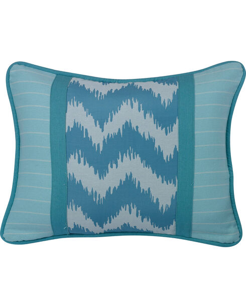 "HiEnd Accents Chevron Print Accent Pillow, 16""X21"", Multi, hi-res"