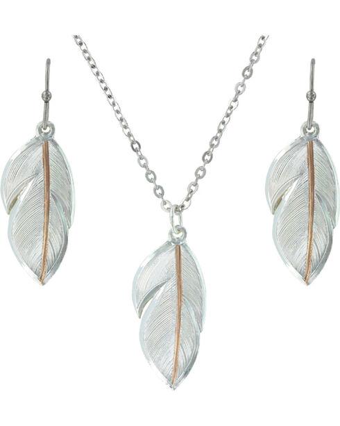 Montana Silversmiths Downy Feather Jewelry Set, Multi, hi-res