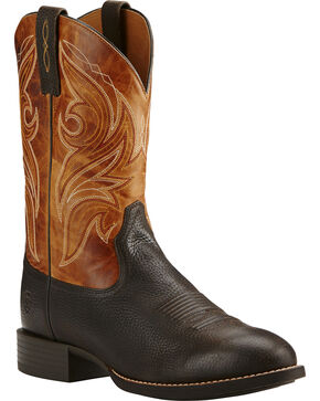 Ariat Men's Heritage Cowpuncher Iron Western Boots, Coffee, hi-res