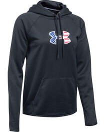 Under Armour Women's Black Big Flag Logo Tactical Hoodie, , hi-res