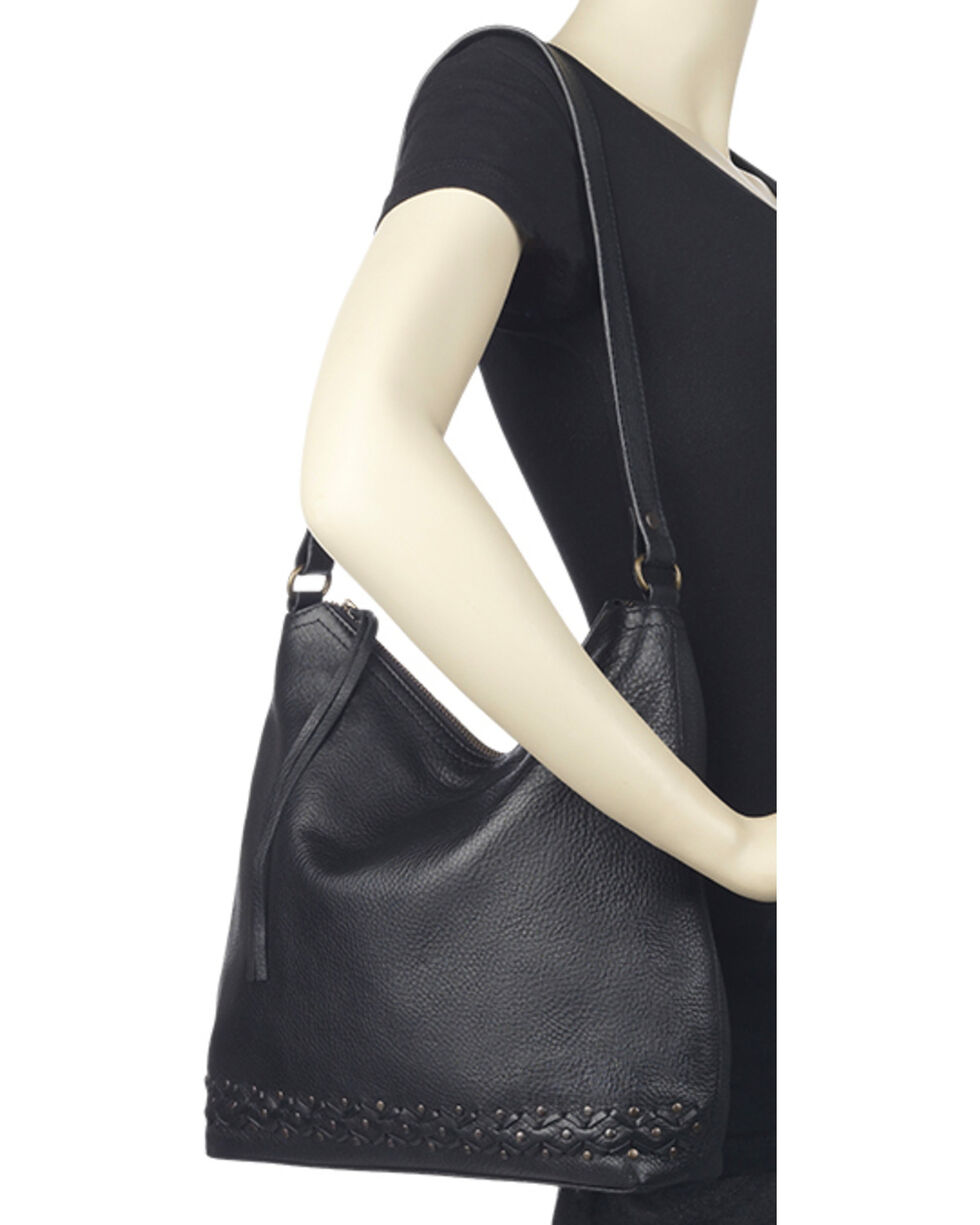 TrueLu Women's Black Emily Hobo Bag , Black, hi-res