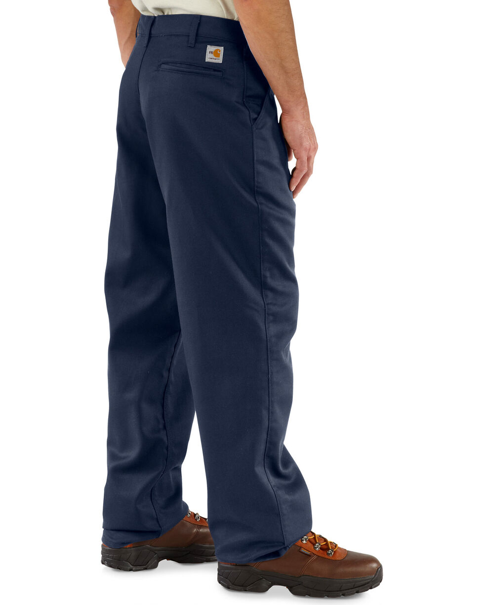 Carhartt Flame Resistant Twill Work Pants, Navy, hi-res