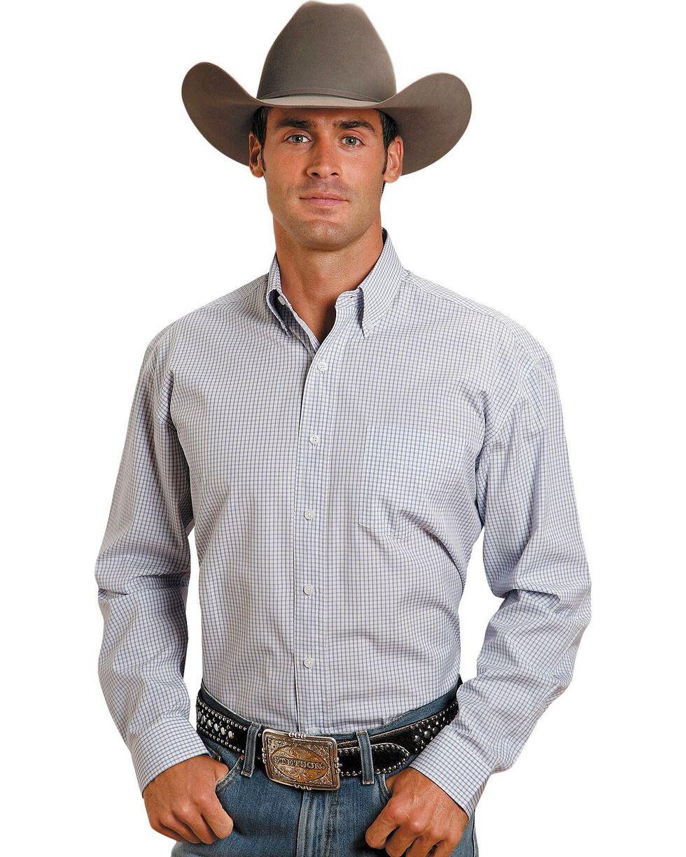 Stetson Plaid Button Shirt, Blue, hi-res