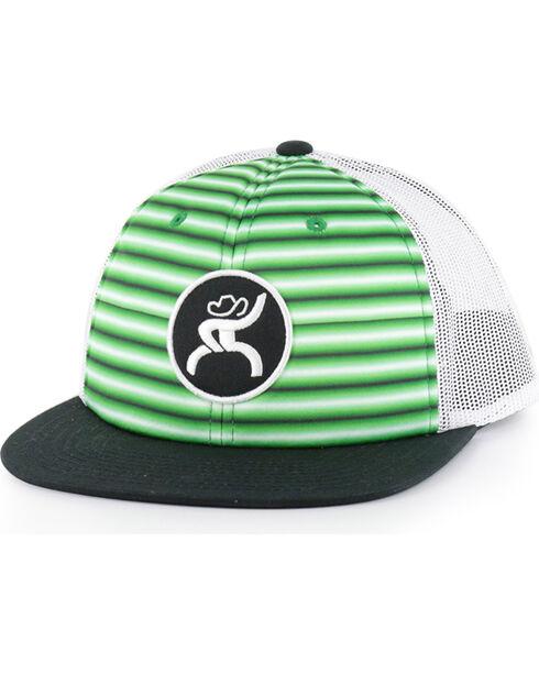 HOOey Men's  Logo Snap Back Ball Cap, Green, hi-res