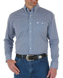 Wrangler Men's Mini Print Long Sleeve Shirt, , hi-res