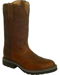 Twisted X Men's Pull-On Safety Work Boots, Brown, hi-res
