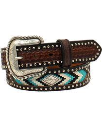 Nocona Men's Diamond Concho Nail Head Belt , , hi-res