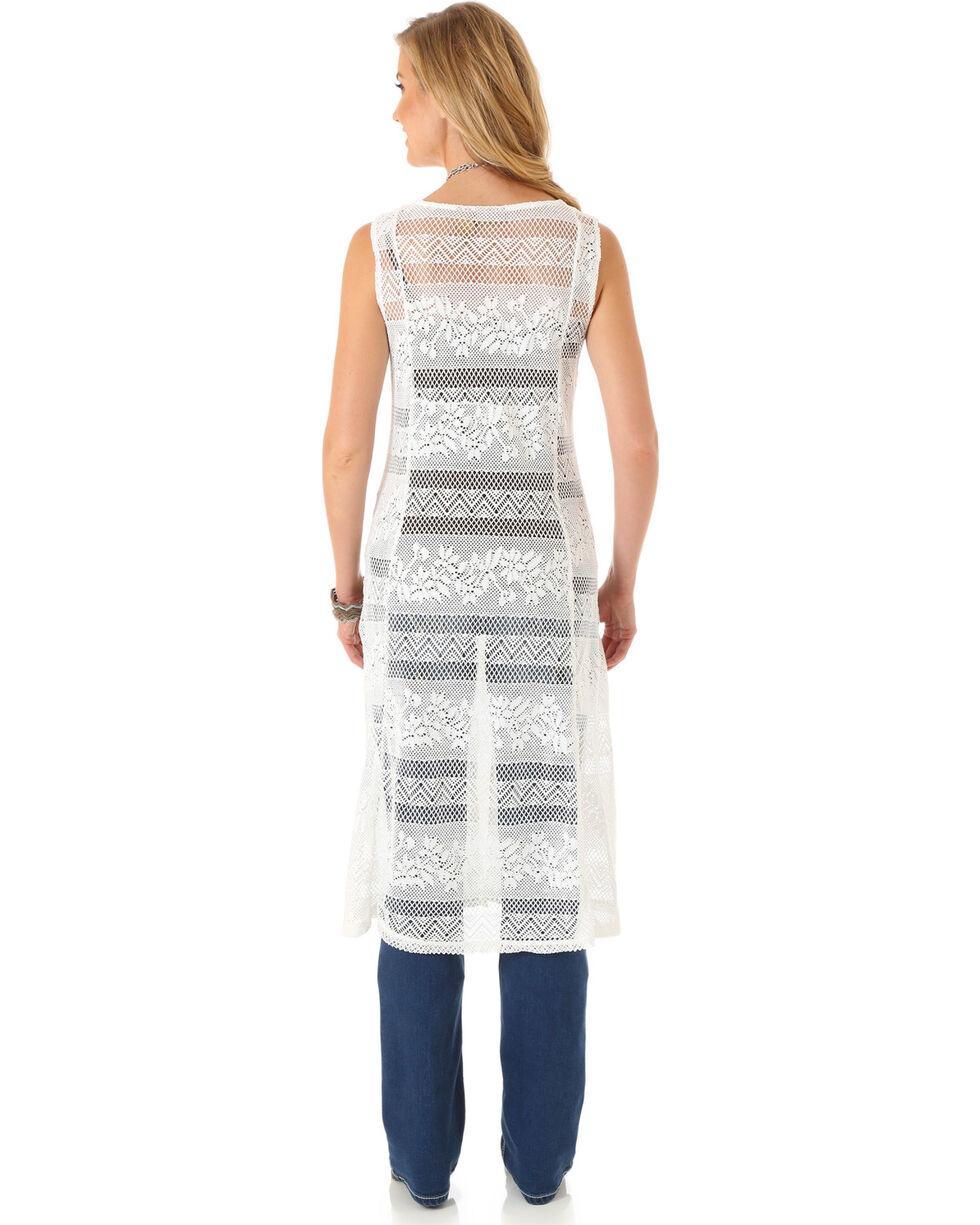 Wrangler Women's Sleeveless Crochet Fashion Duster, Cream, hi-res