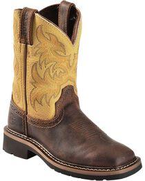 Justin Kid's Stampede Western Boots, , hi-res