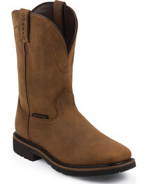 Justin Men's Wyoming Waterproof Worker II Work Boots, , hi-res