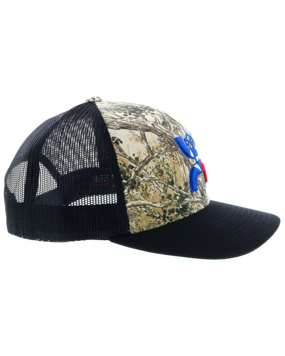 HOOey Men's Black Game Guard Texas Trucker Cap , Black, hi-res