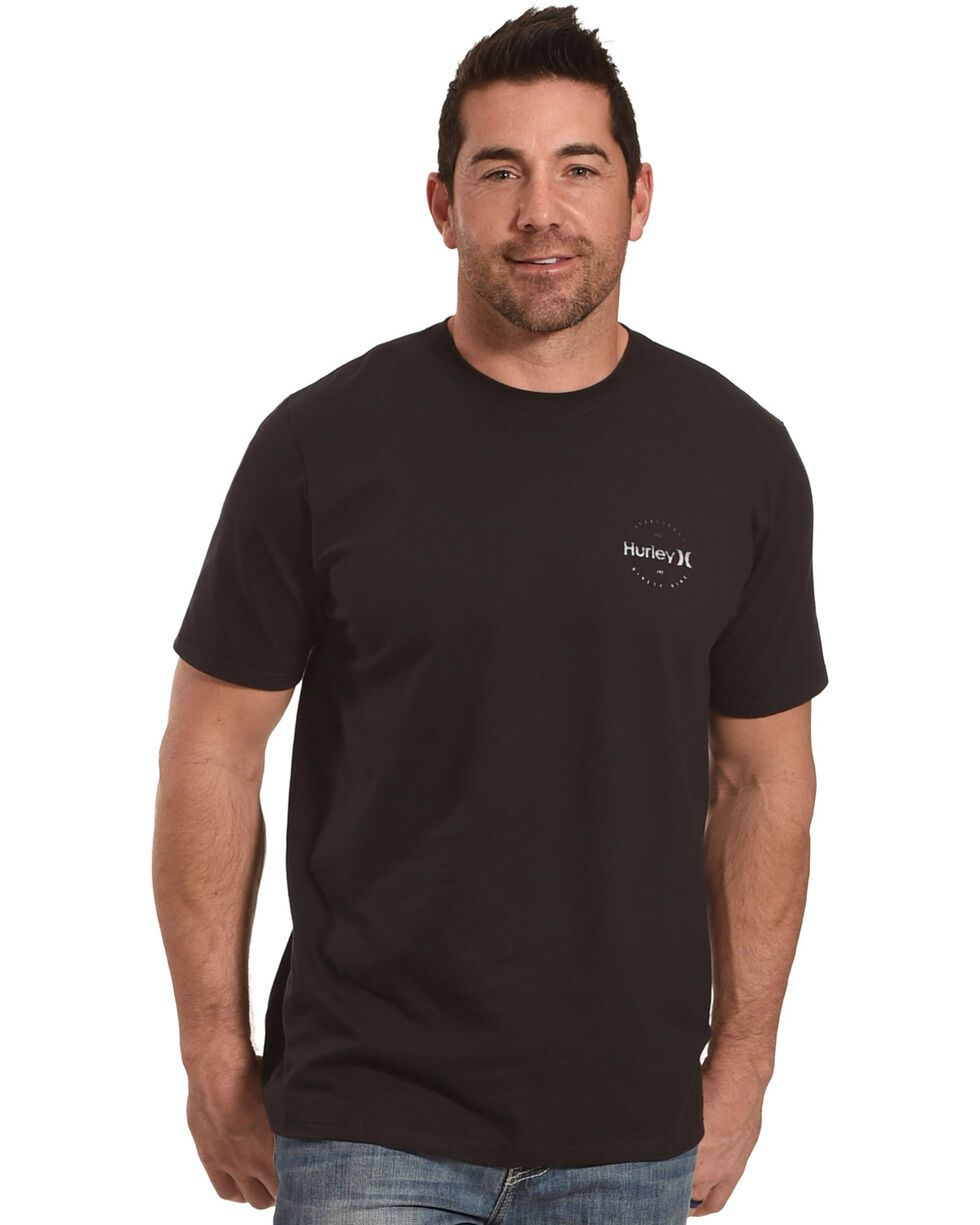 Hurley Men's One And Only Marker Short Sleeve Tee, Black, hi-res