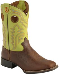 "Tony Lama Kid's 3R 8"" Square Toe Western Boots, , hi-res"
