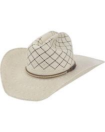 Justin Bent Rail Waddy Straw Cowboy Hat , , hi-res