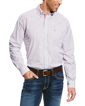 Ariat Men's White Chapman Print Long Sleeve Shirt , White, hi-res