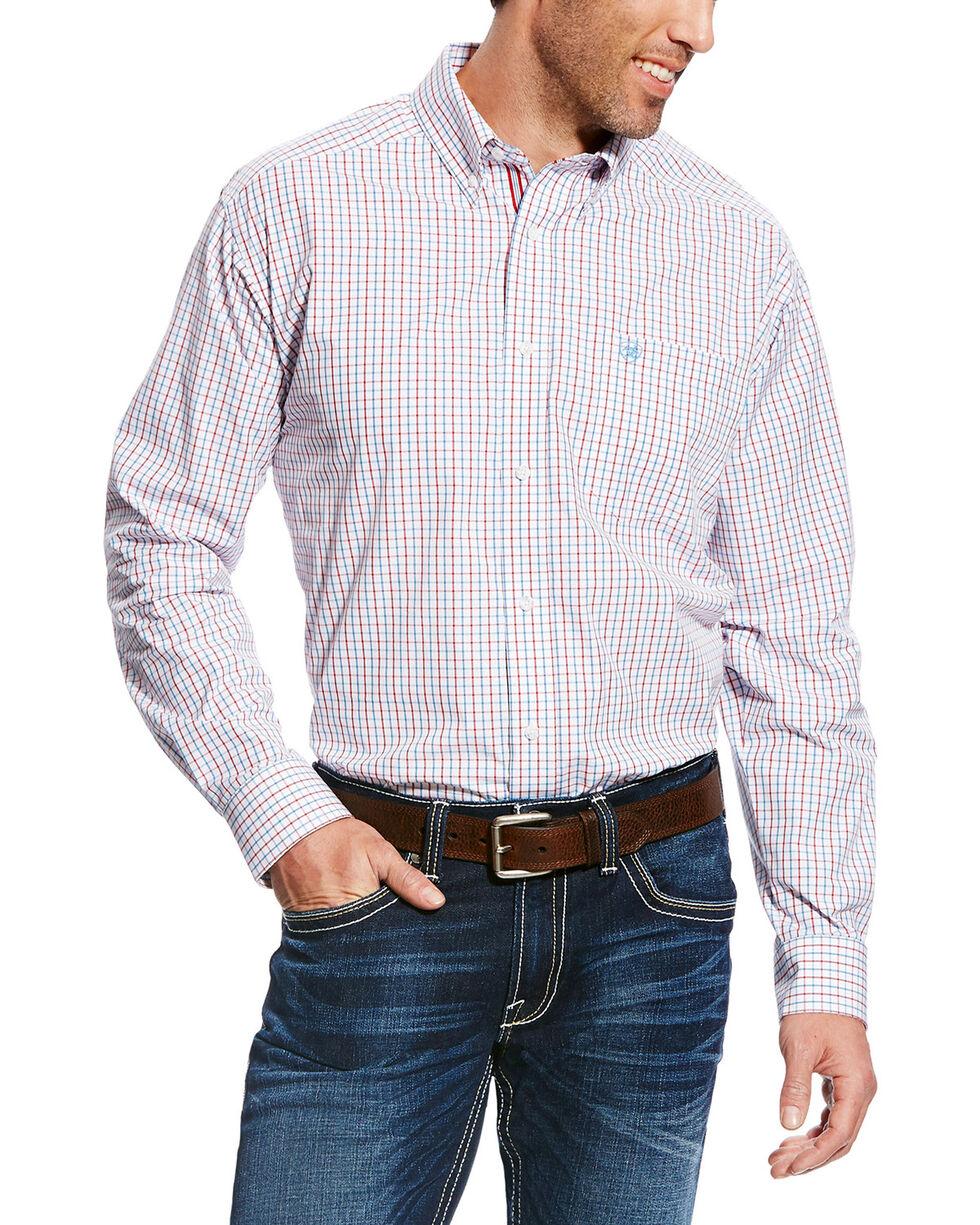 Ariat Men's White Chapman Print Long Sleeve Shirt , White, hi-res