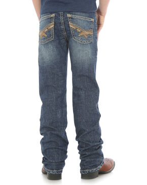 Wrangler Rock 47 Boys' (8-16)  Indigo Slim Fit Jeans - Boot Cut , Indigo, hi-res