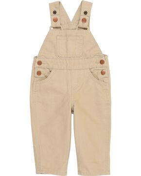 Wrangler® Toddler Boy's Tan Baby Bib Overalls , Tan, hi-res