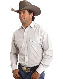 Roper Tone-on-Tone Steerhead Dobby Snap Shirt, , hi-res