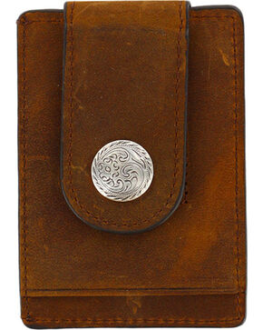 Cody James® Men's Boot Stitch Money Clip Wallet, Brown, hi-res
