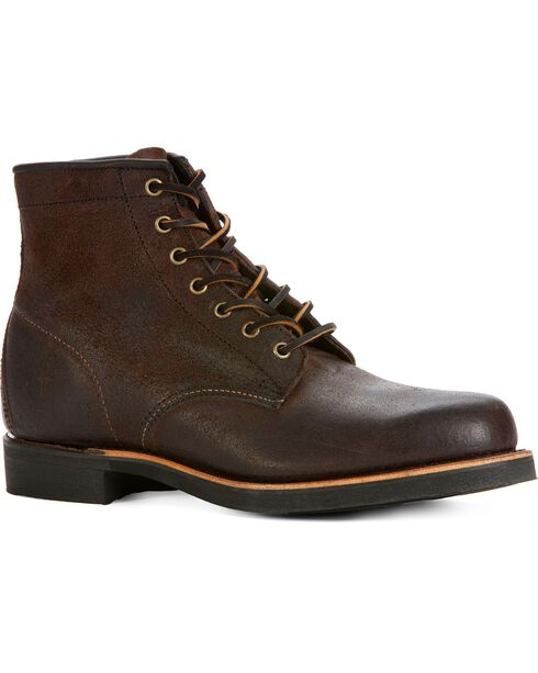 Frye Men's Arkansas Mid Lace Boots - Round Toe, Brown, hi-res
