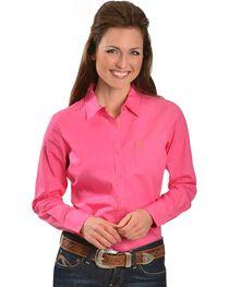 Ariat Pink Poplin Shirt, , hi-res