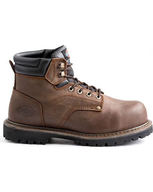 "Dickies Men's Brown Ratchet 6"" Work Boot - Steel Toe, Brown, hi-res"