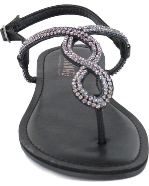 Shyanne® Women's Bling Loop Sandals, Black, hi-res