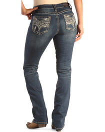 Grace in LA Women's Easy Fit Scroll Stitch Jeans - Bootcut , , hi-res