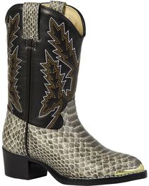 Durango Youth Snake Print Western Boots, , hi-res