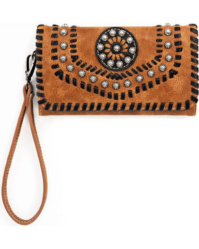 Blazin Roxx Women's Western Vanessa Wallet and Clutch , Brown, hi-res